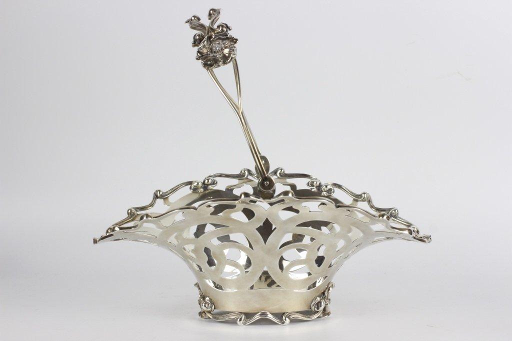 Sterling Silver Art Nouveau Basket - 2