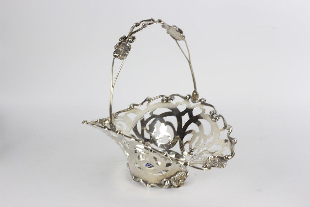 Sterling Silver Art Nouveau Basket - 3