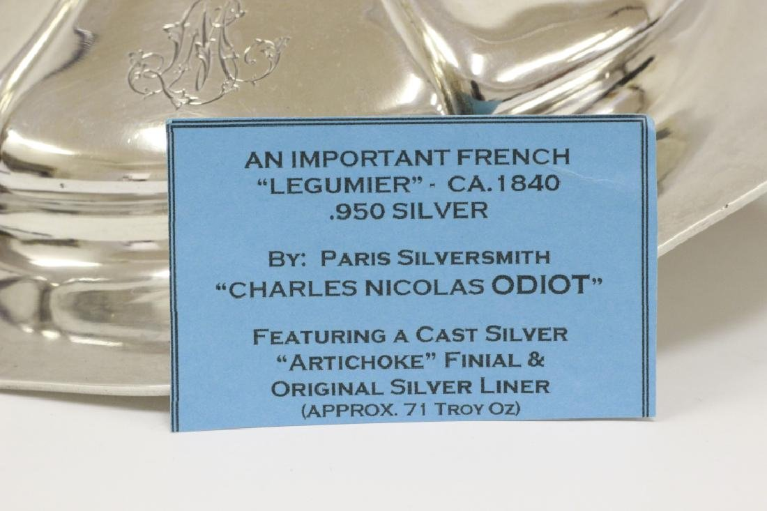 Important Sterling Silver French Legumier By Odiot - 10