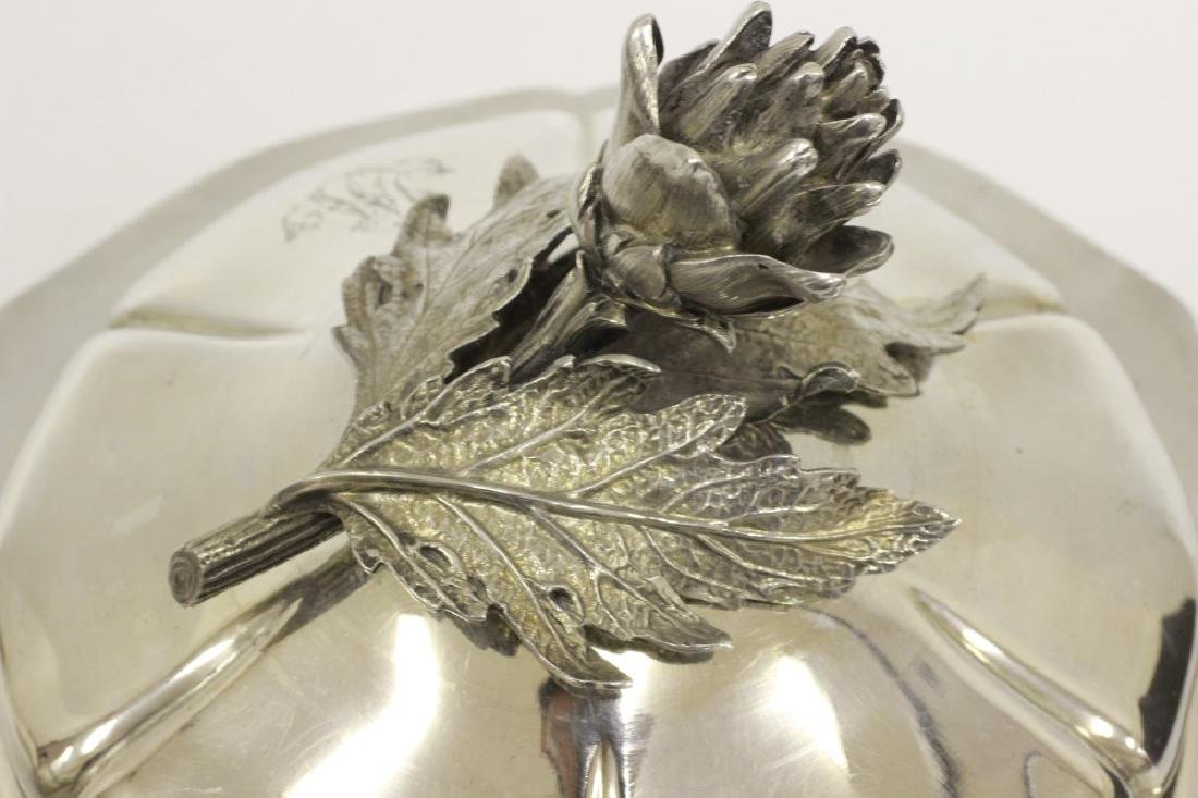 Important Sterling Silver French Legumier By Odiot - 3