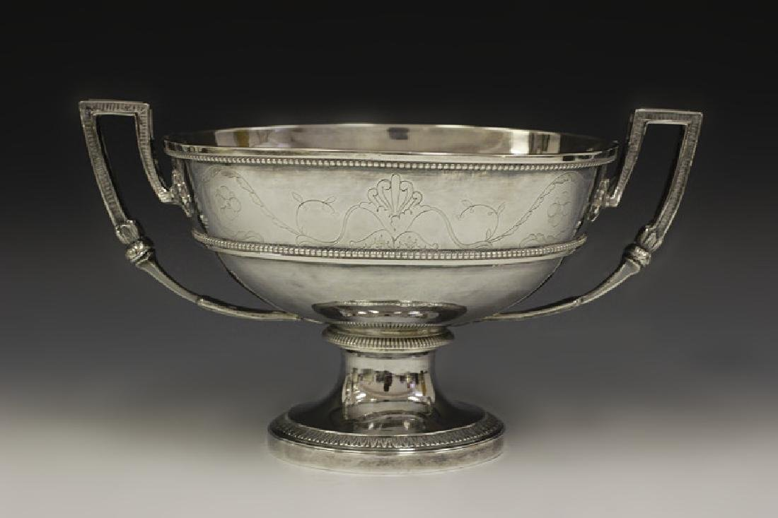 French Sterling Silver Two Handled Bowl