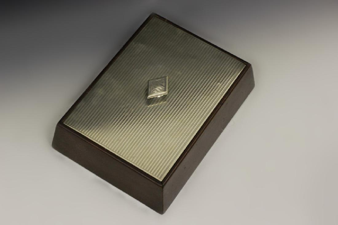Art Deco Sterling Silver & Wood Humidor - 7
