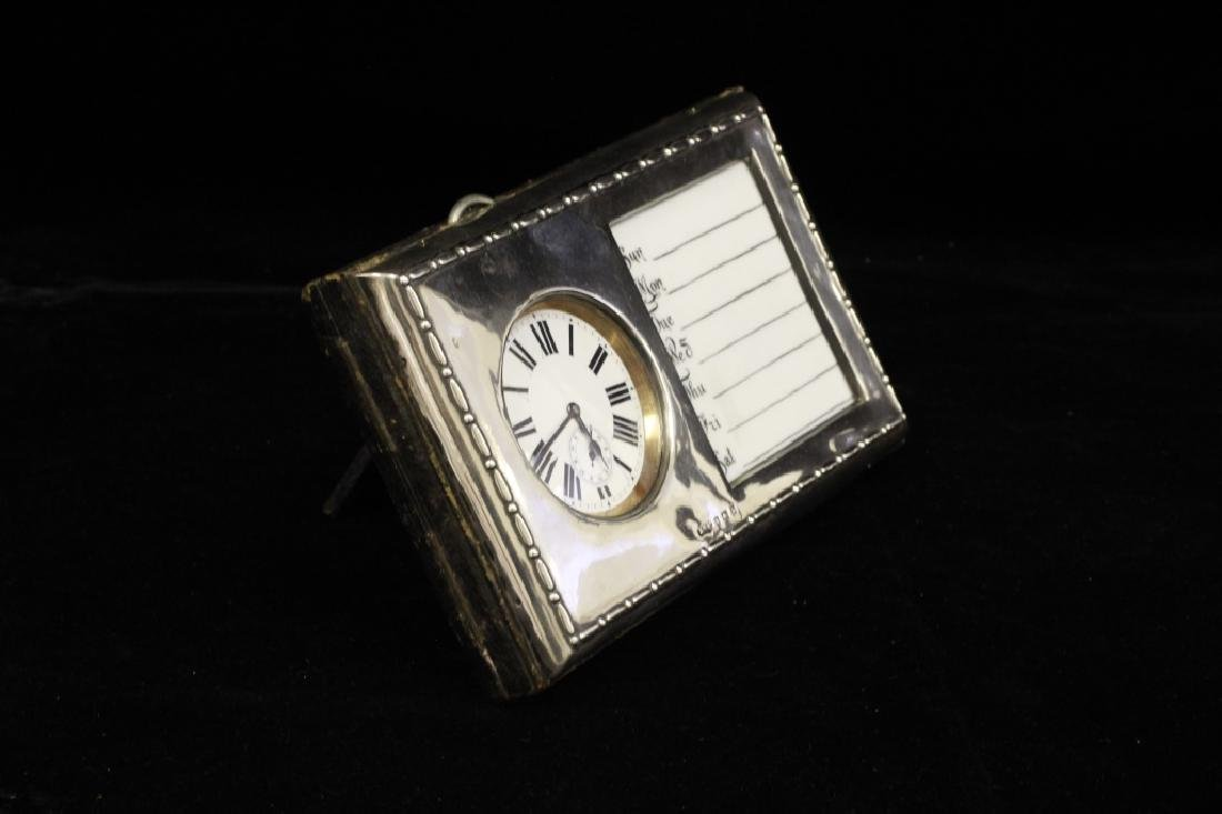 Rare19C English Sterling Silver Calendar & Pocket Watch - 4