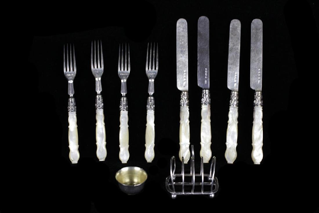 Lot Of Sterling Silver & Mother Of Pearl Cutlery
