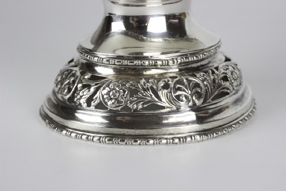 German Sterling Silver Basket W/ Glass Insert - 4