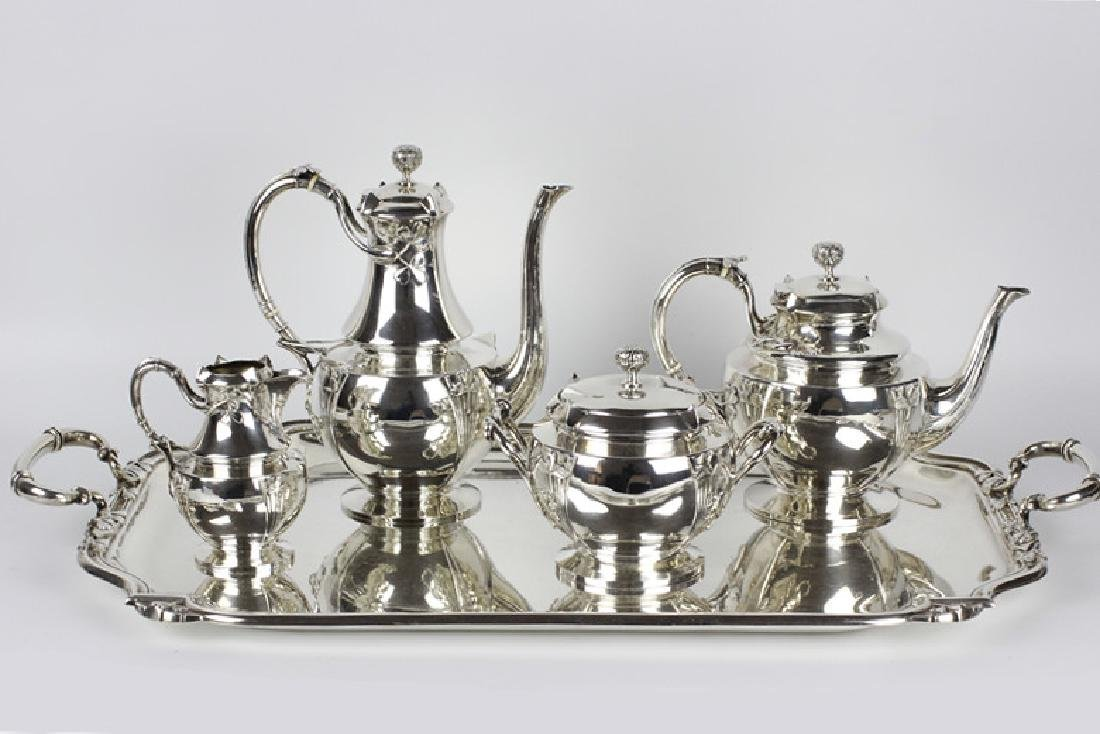 French Sterling Silver Coffee Set By Debain