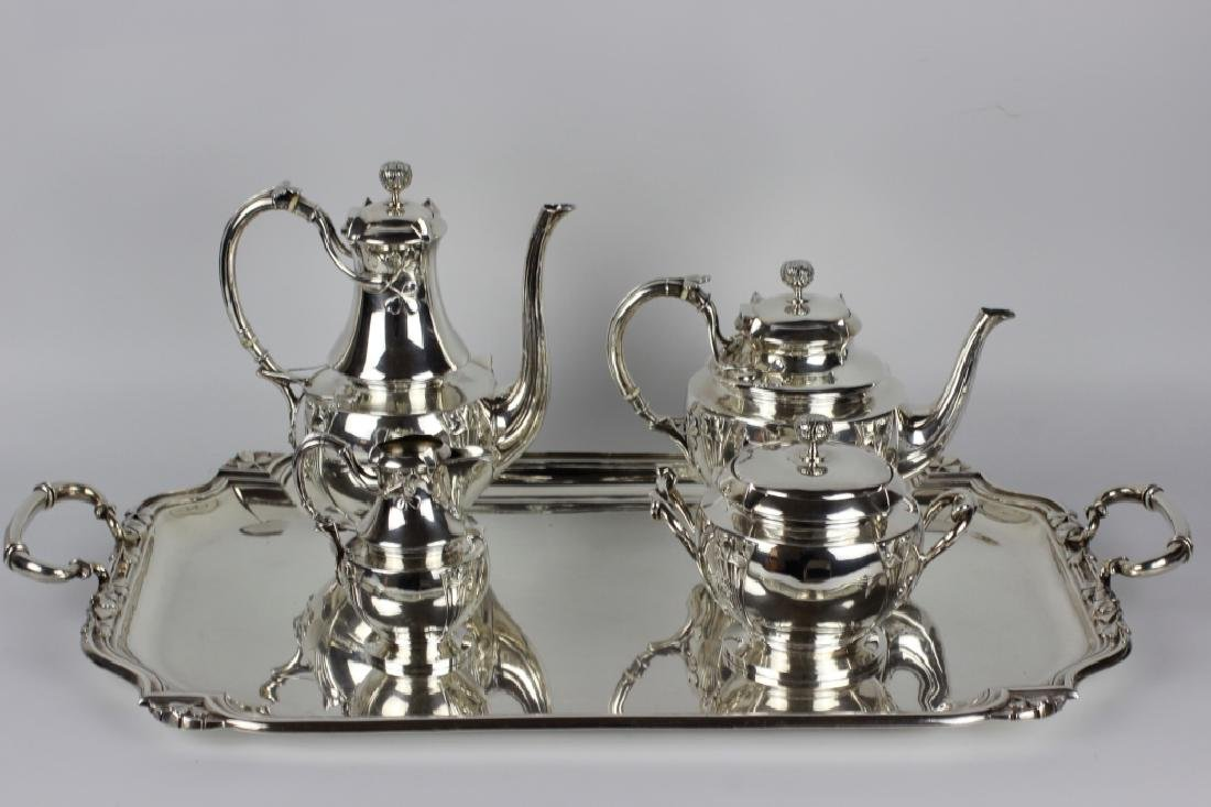 French Sterling Silver Coffee Set By Debain - 2
