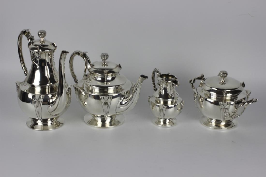 French Sterling Silver Coffee Set By Debain - 3