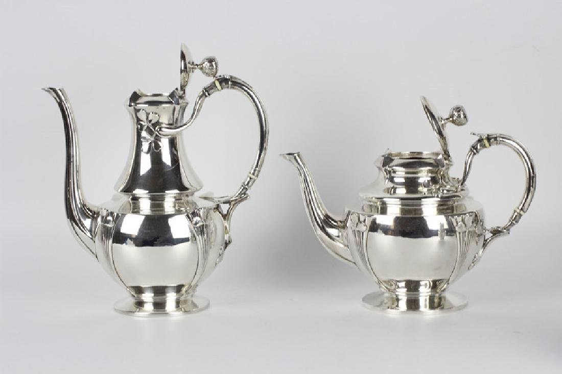 French Sterling Silver Coffee Set By Debain - 4