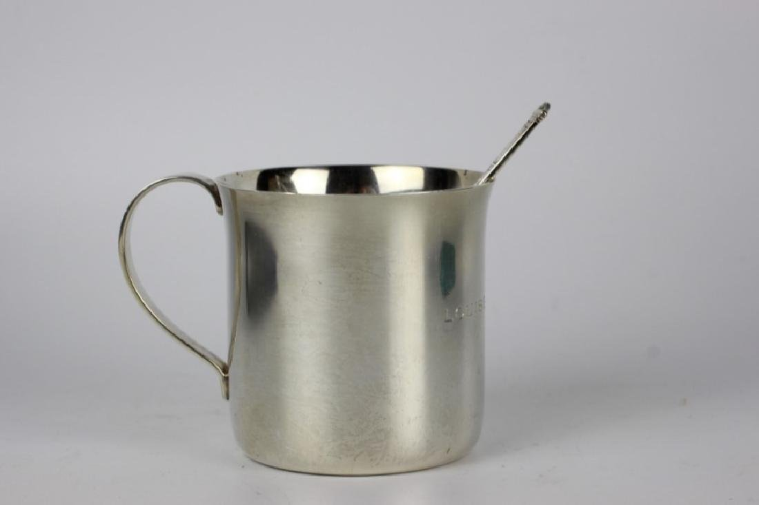 Tiffany & Co. Makers Sterling Silver Cup & Spoon