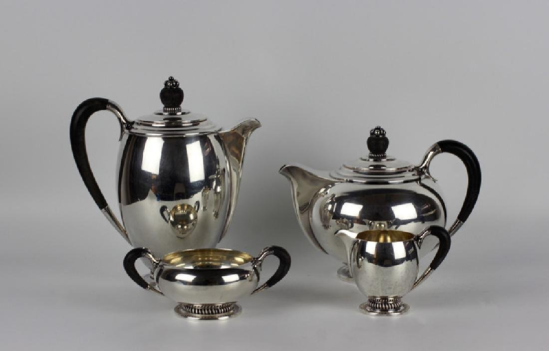 Danish Sterling Silver Coffee Set, 4 Pieces