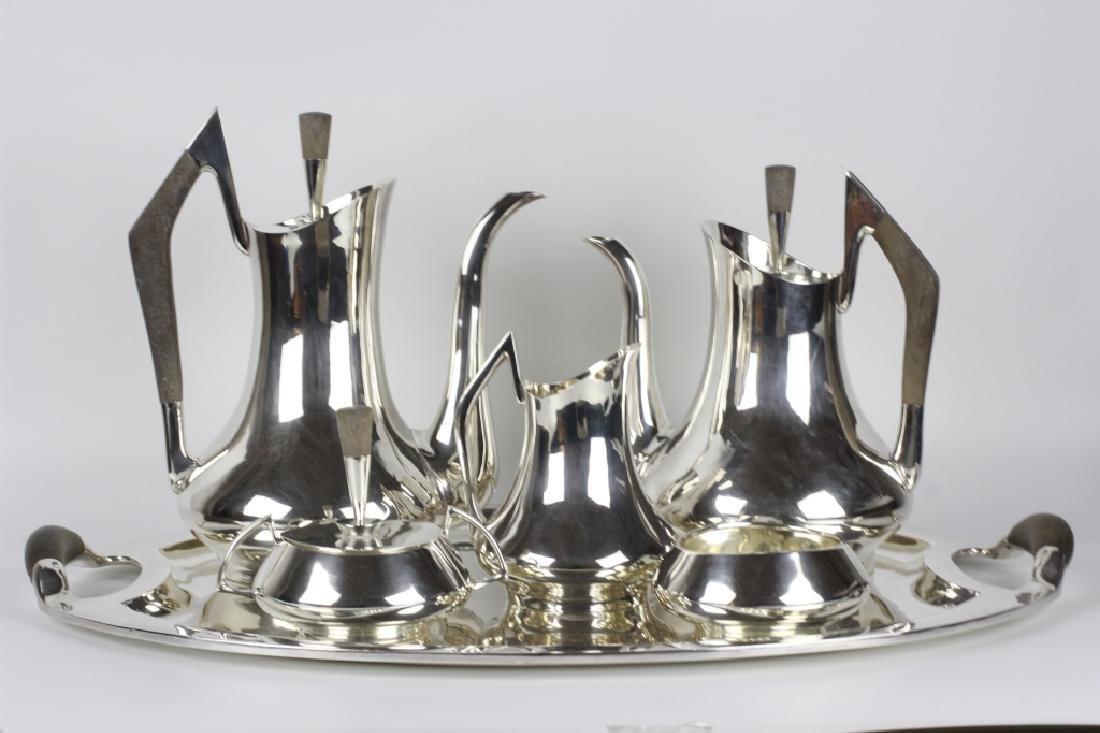 Sterling Silver 6 Piece Coffee & Tea Set, 162ozt