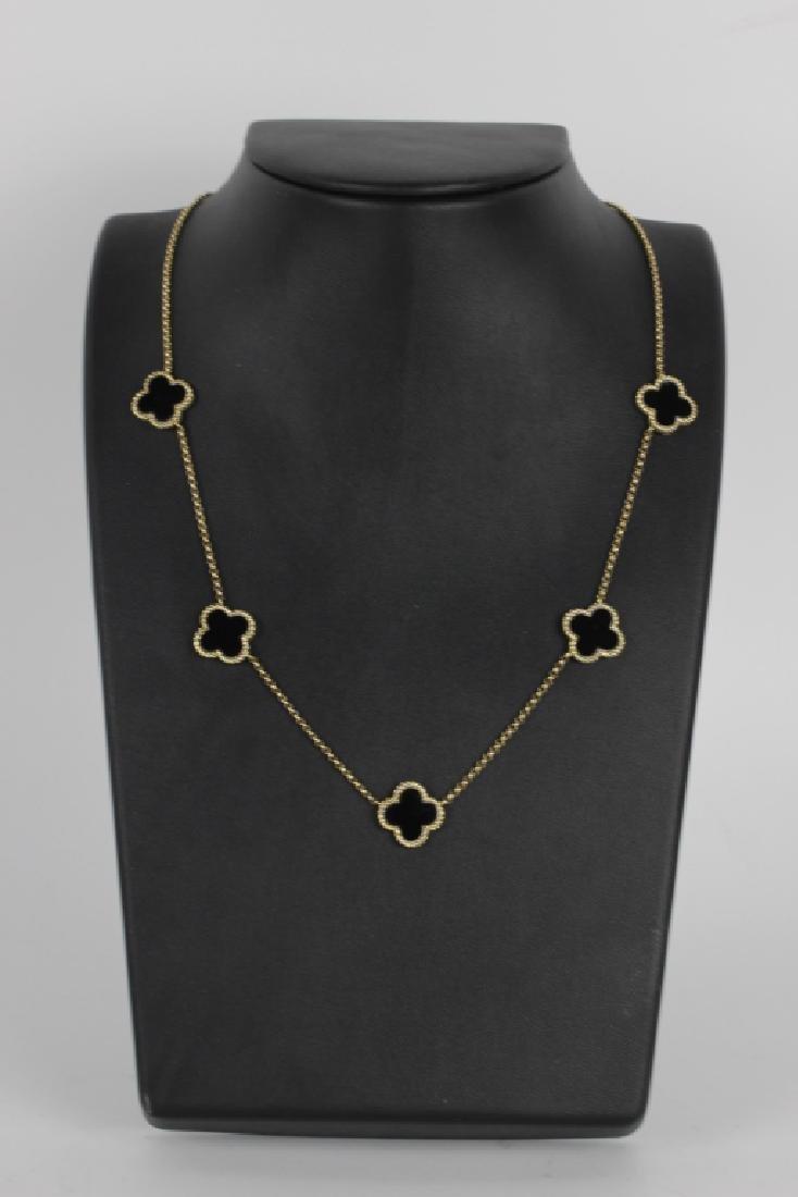 14k Van Cleef Style Necklace