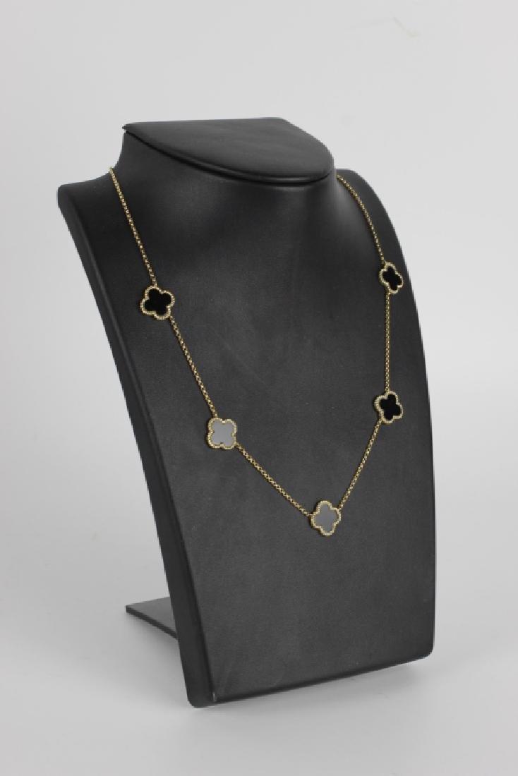 14k Van Cleef Style Necklace - 2