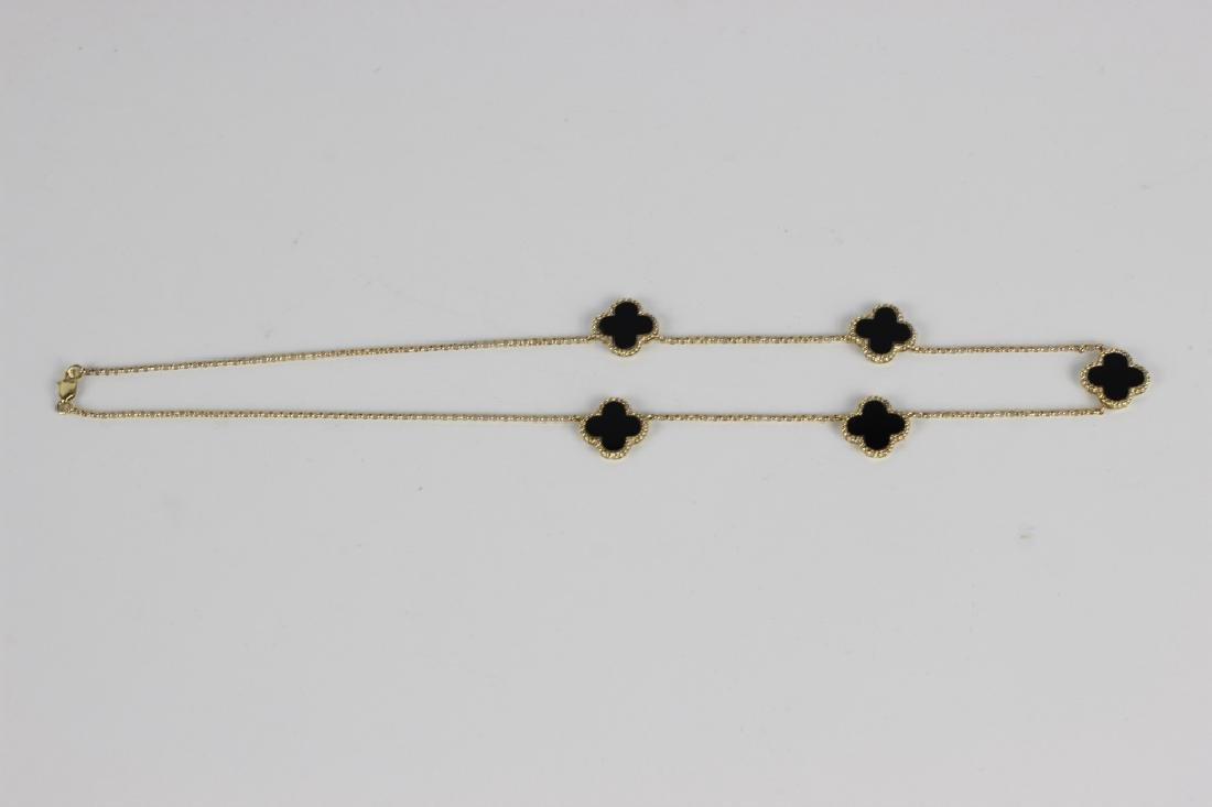 14k Van Cleef Style Necklace - 3