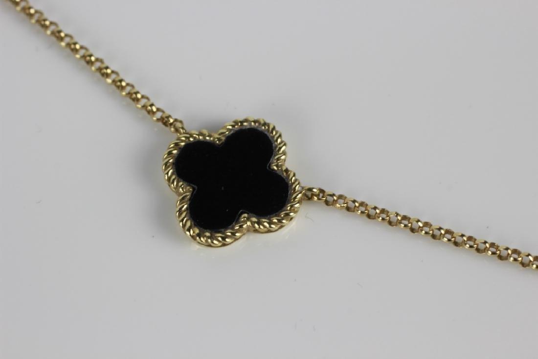 14k Van Cleef Style Necklace - 4