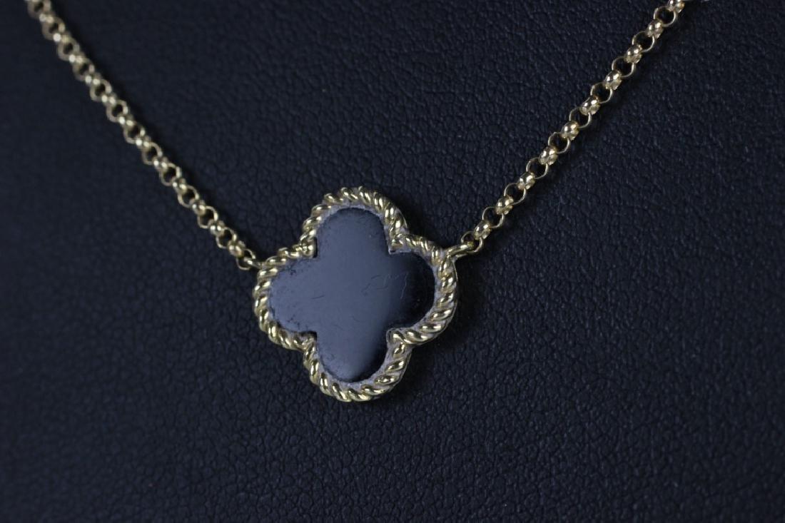 14k Van Cleef Style Necklace - 5