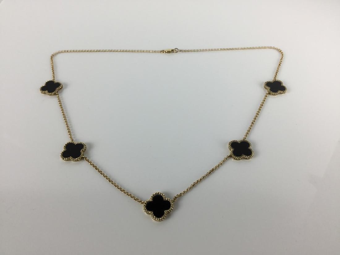 14k Van Cleef Style Necklace - 6