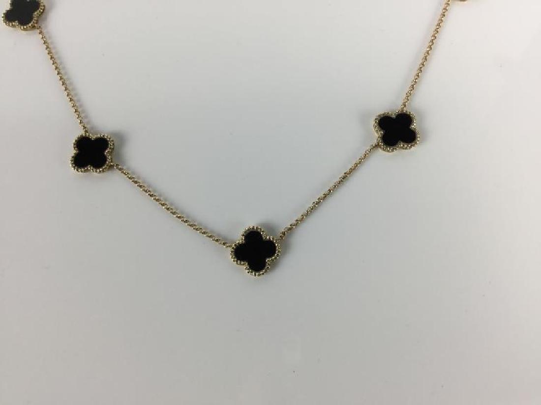 14k Van Cleef Style Necklace - 7