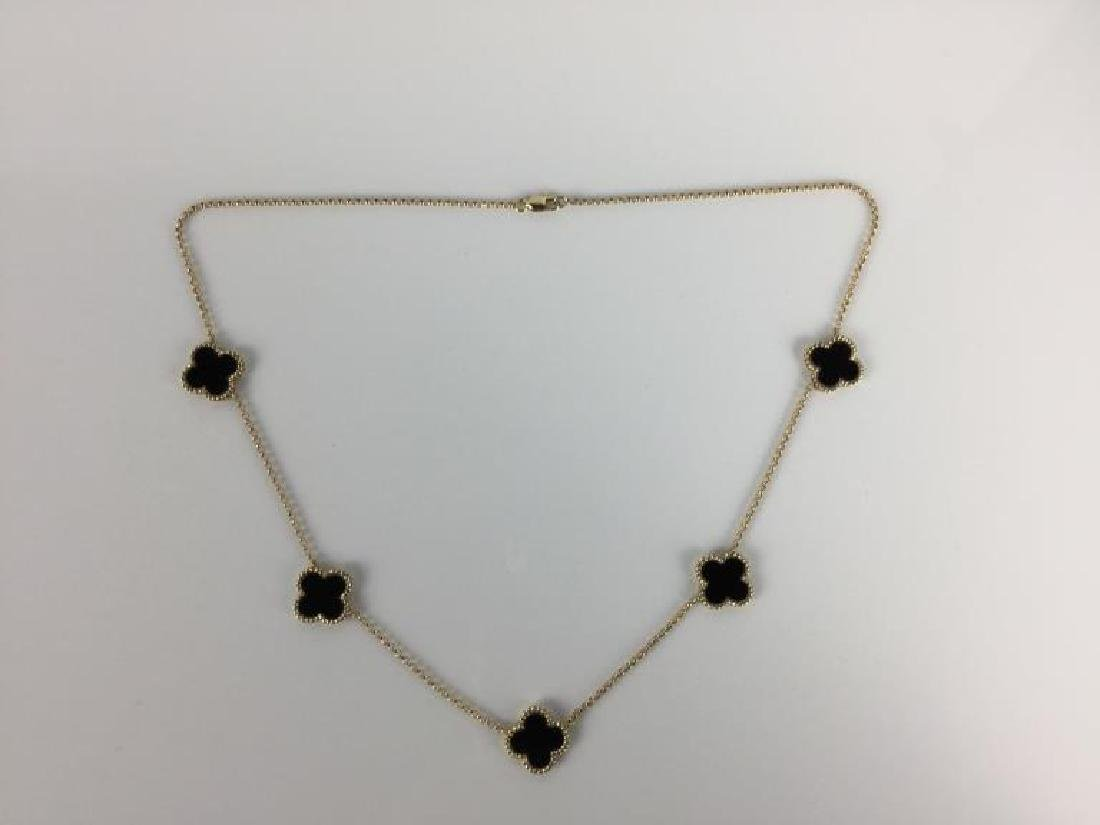 14k Van Cleef Style Necklace - 8