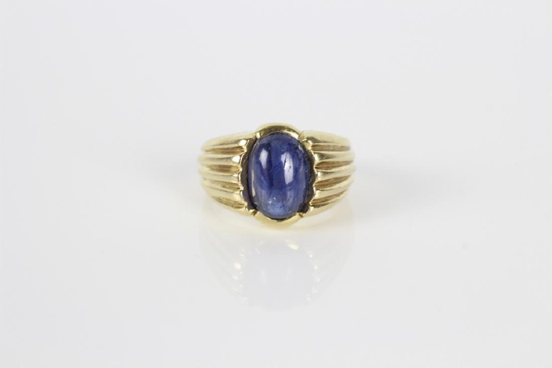 14k Gold & Sapphire Ring