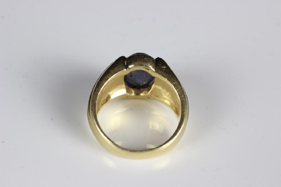 14k Gold & Sapphire Ring - 4