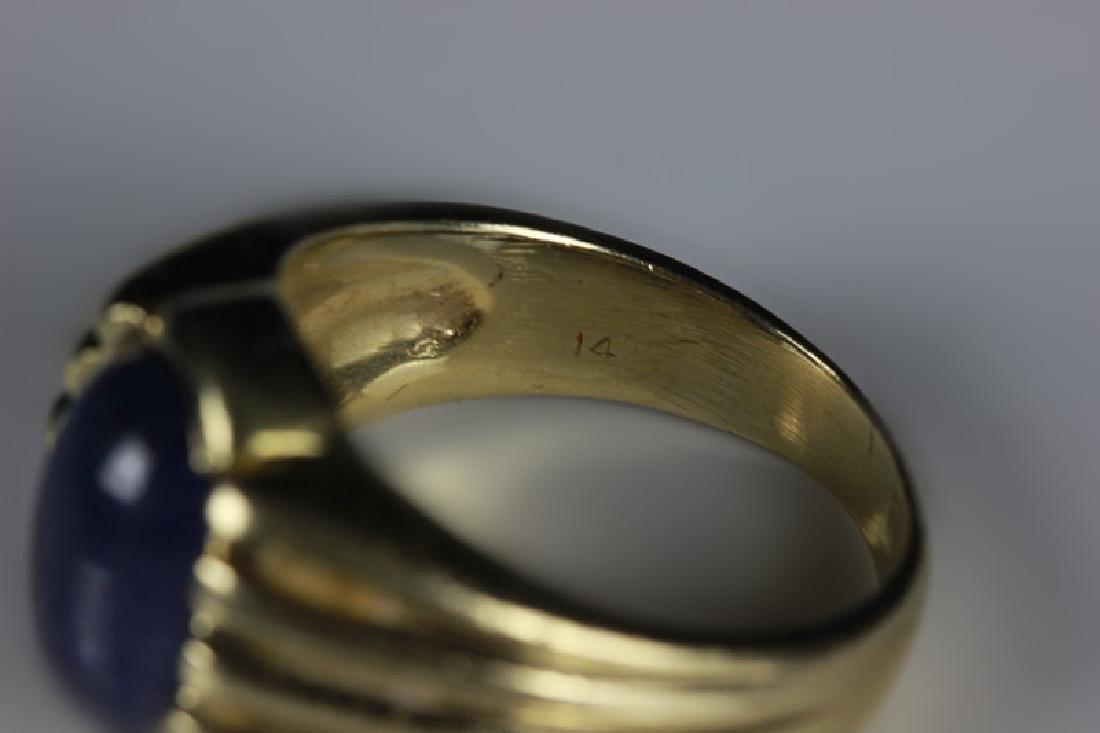 14k Gold & Sapphire Ring - 6