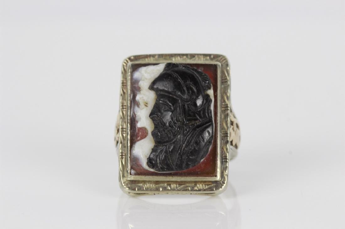 Silver & Gold Cameo Ring