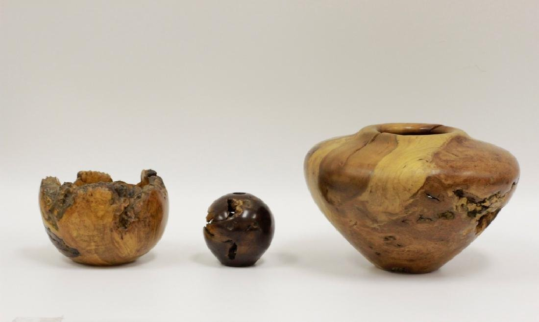 3 Unusual Wood Vases, By Mel & Mark Lindquist