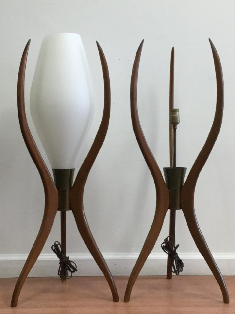 Pair Of Art Modern Lamps. And One Other - 2
