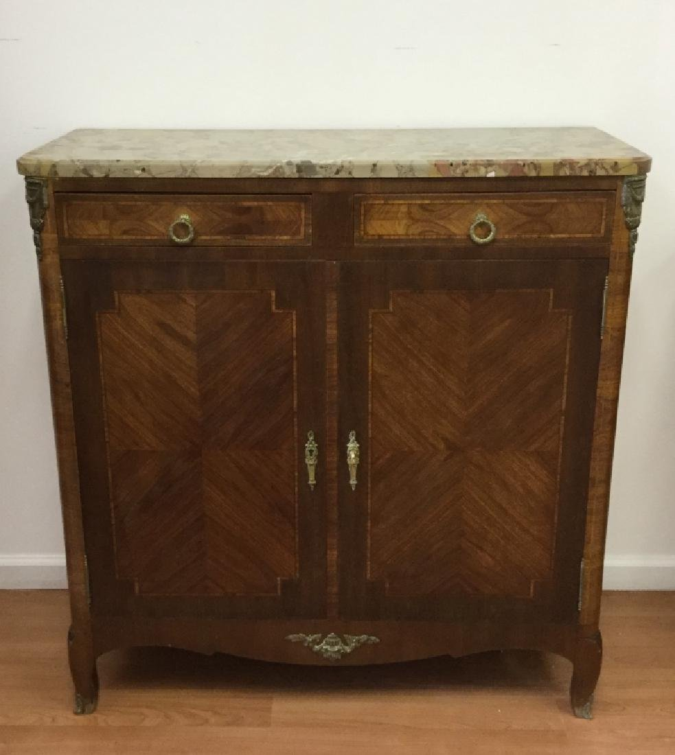 Art Deco Style Buffet With Marble Top