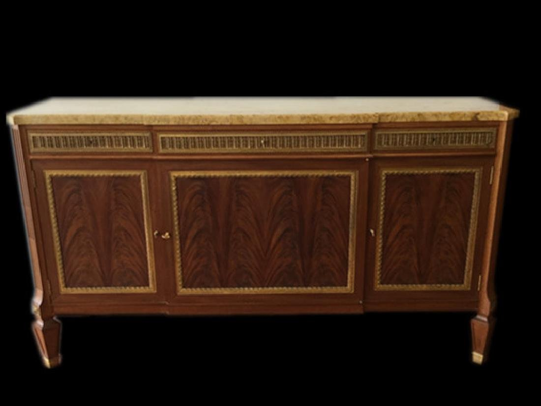Art Deco Large Buffet Table With Marble Top