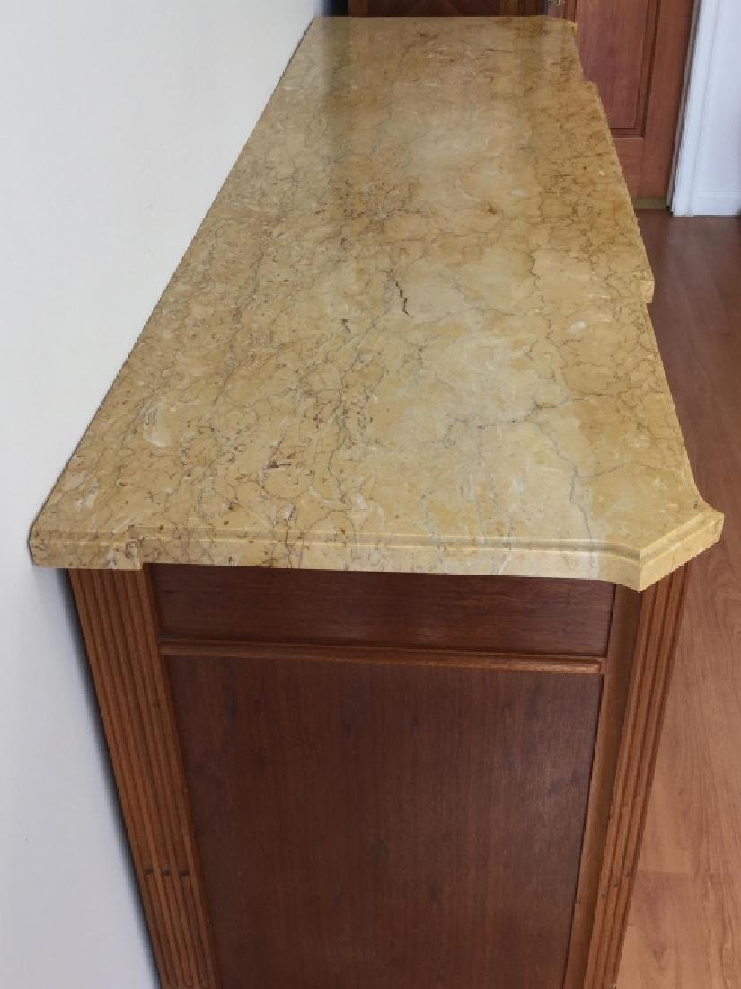 Art Deco Large Buffet Table With Marble Top - 2