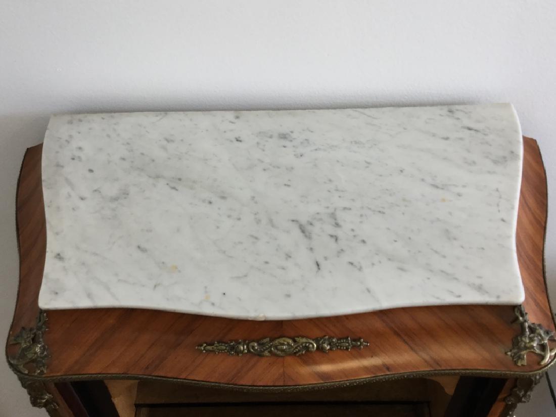 Louis XV Style Secretary W/ Marble Top - 10