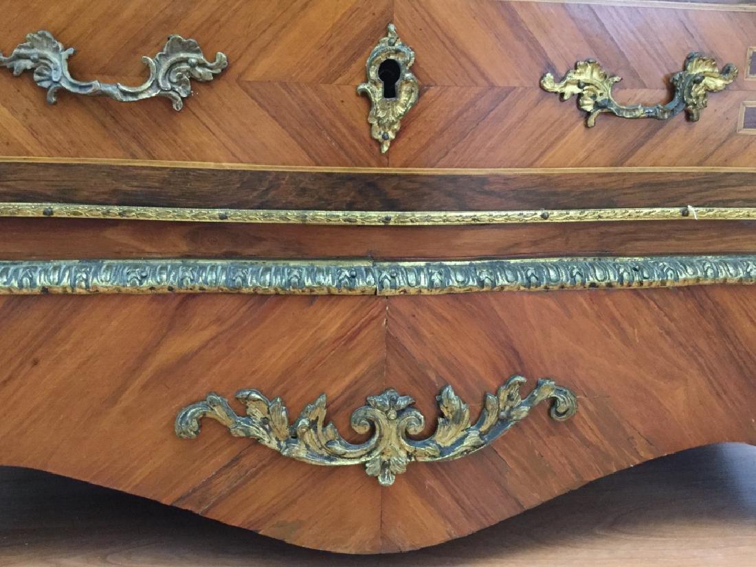 Louis XV Style Secretary W/ Marble Top - 4