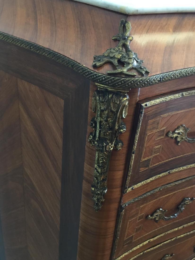 Louis XV Style Secretary W/ Marble Top - 6