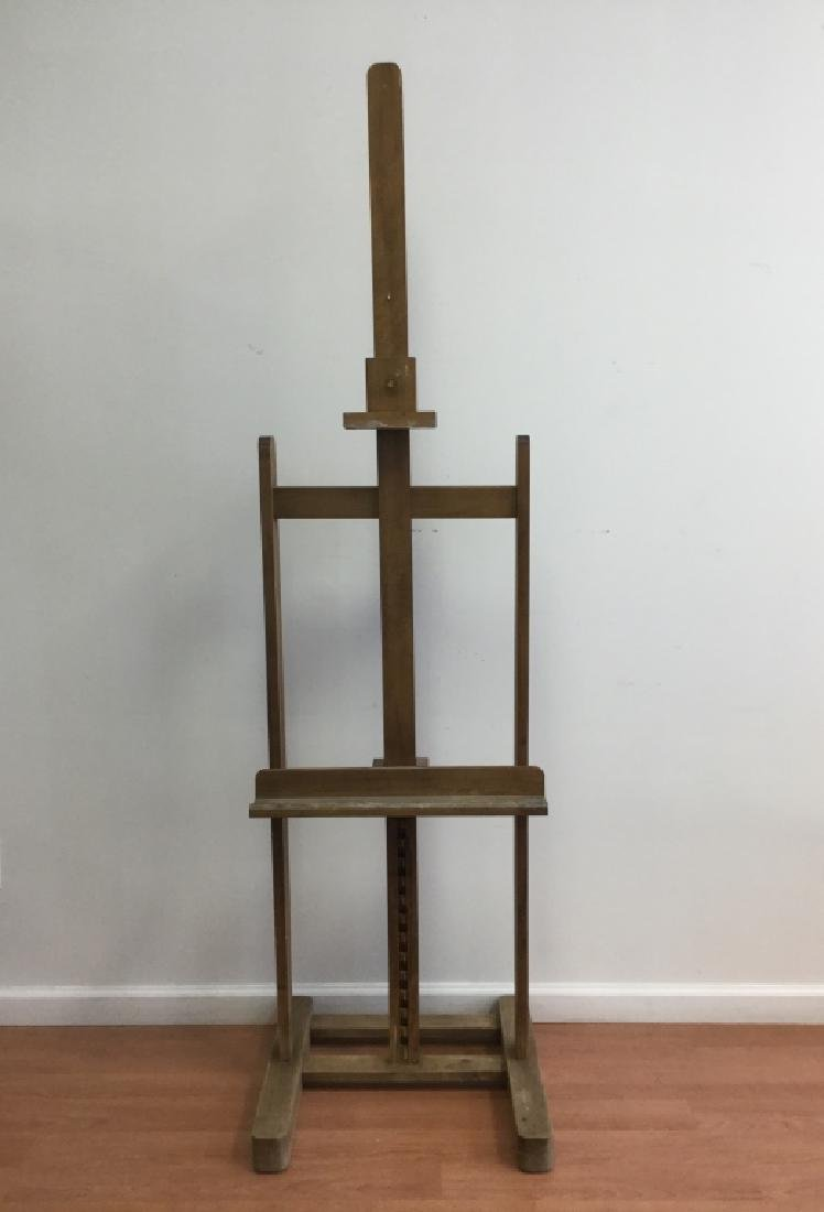 Old Large Wooden Easel, French