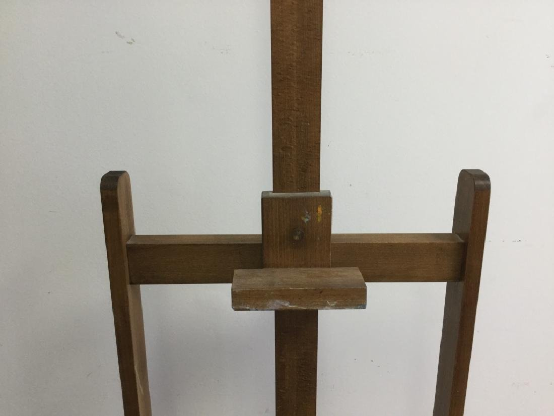 Old Large Wooden Easel, French - 4