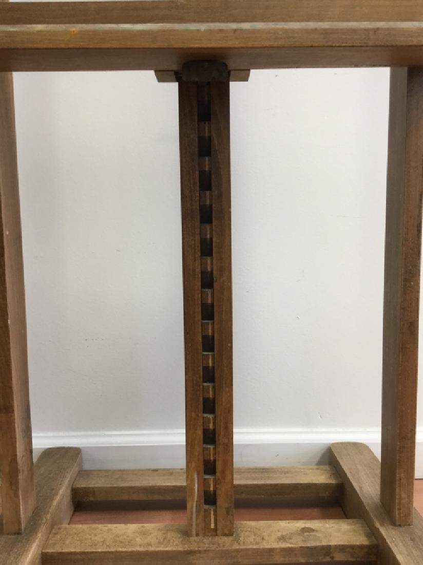 Old Large Wooden Easel, French - 5
