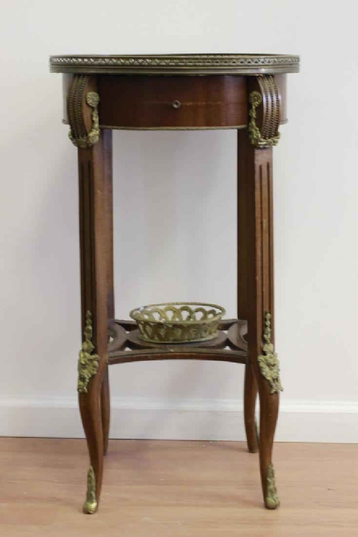 Louis XV Style Parquetry Round Side Table
