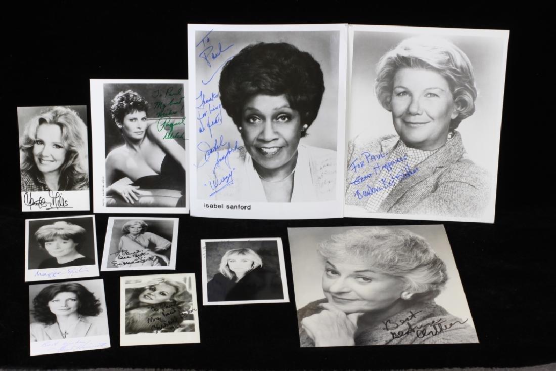 Group of 10 Autographs, Raquel Welch, Etc.