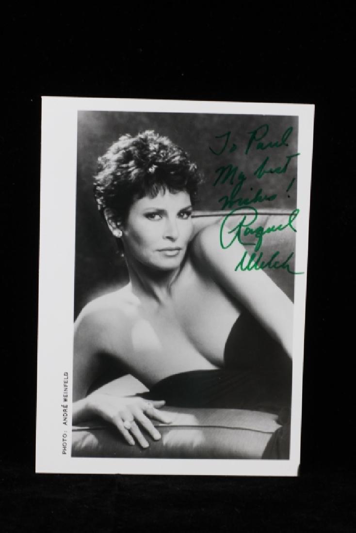 Group of 10 Autographs, Raquel Welch, Etc. - 5