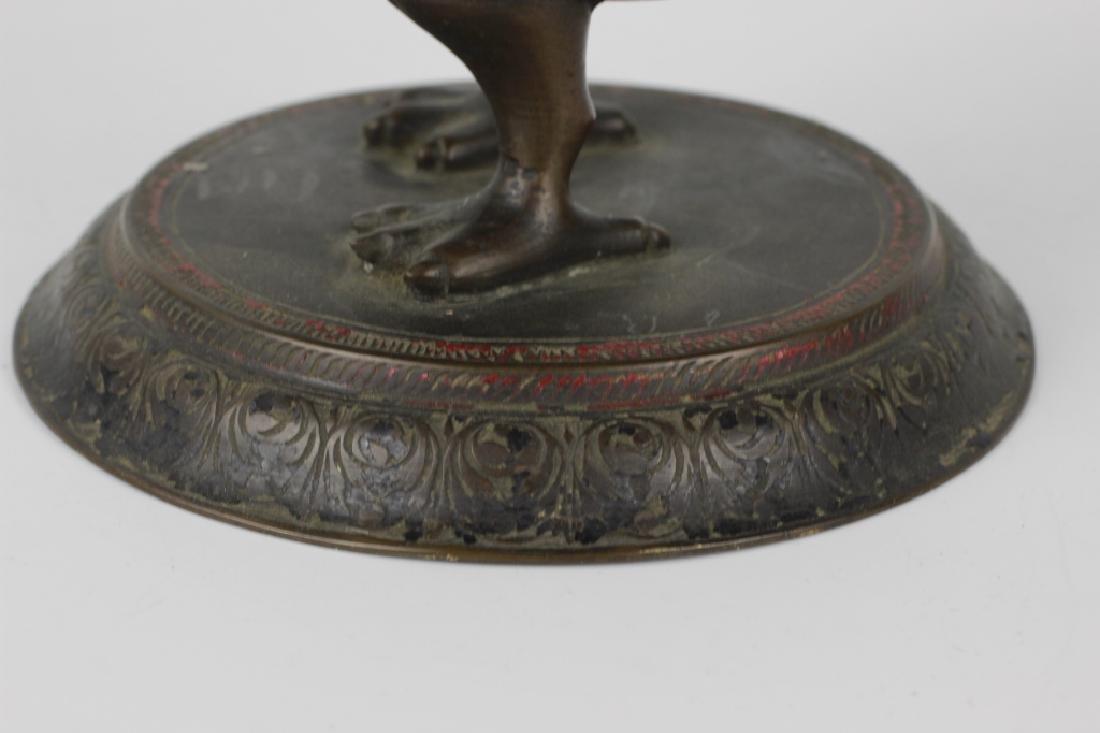 Early Middle Eastern Brass & Enamel Teapot - 10