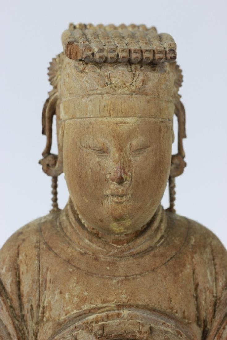 Very Early Carved Wood Chinese  Figure - 2