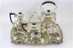 English Sterling Silver Coffee  Tea Set by Caldwell