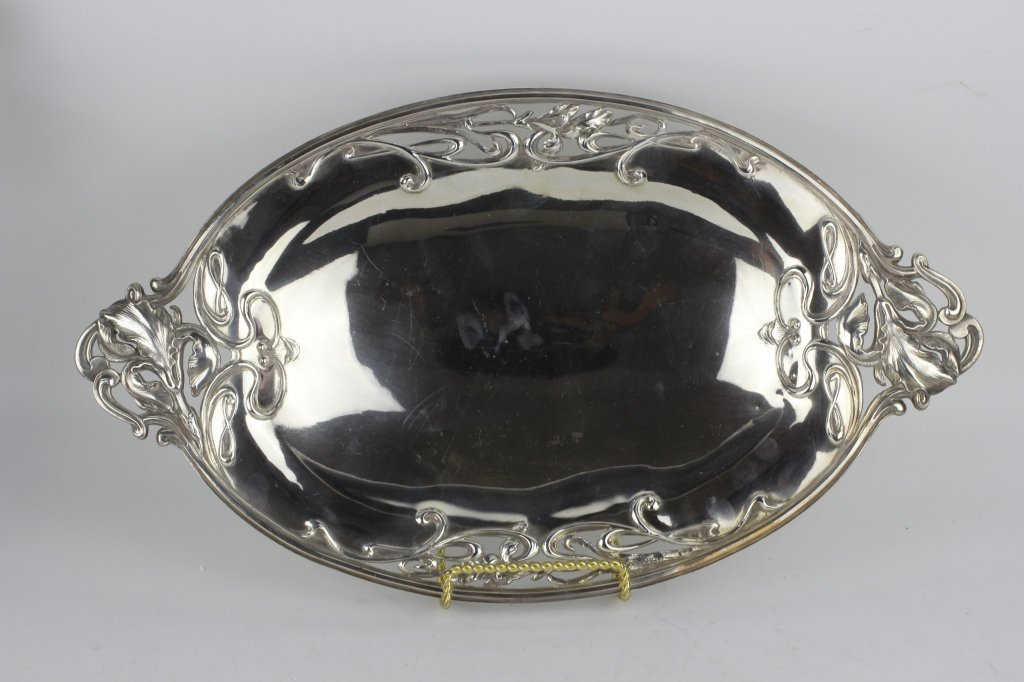 French Sterling Silver  Art Nouveau Dish