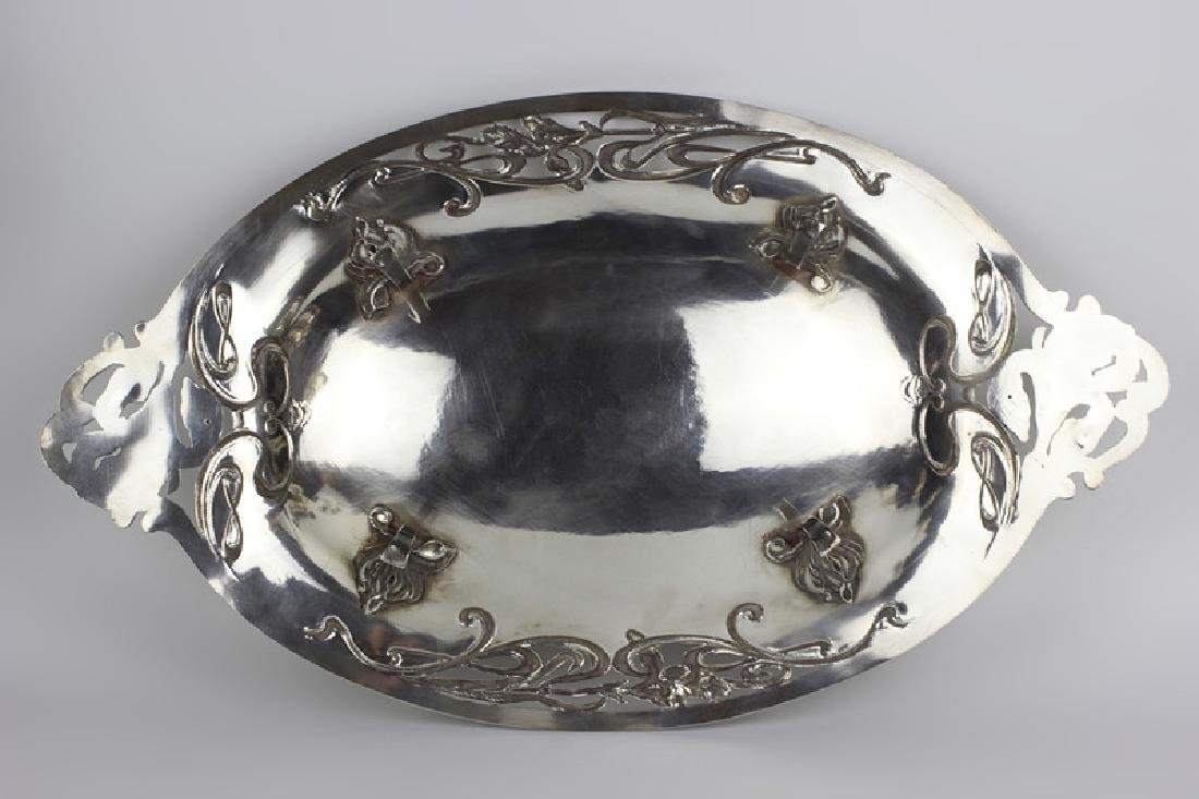 French Sterling Silver  Art Nouveau Dish - 3