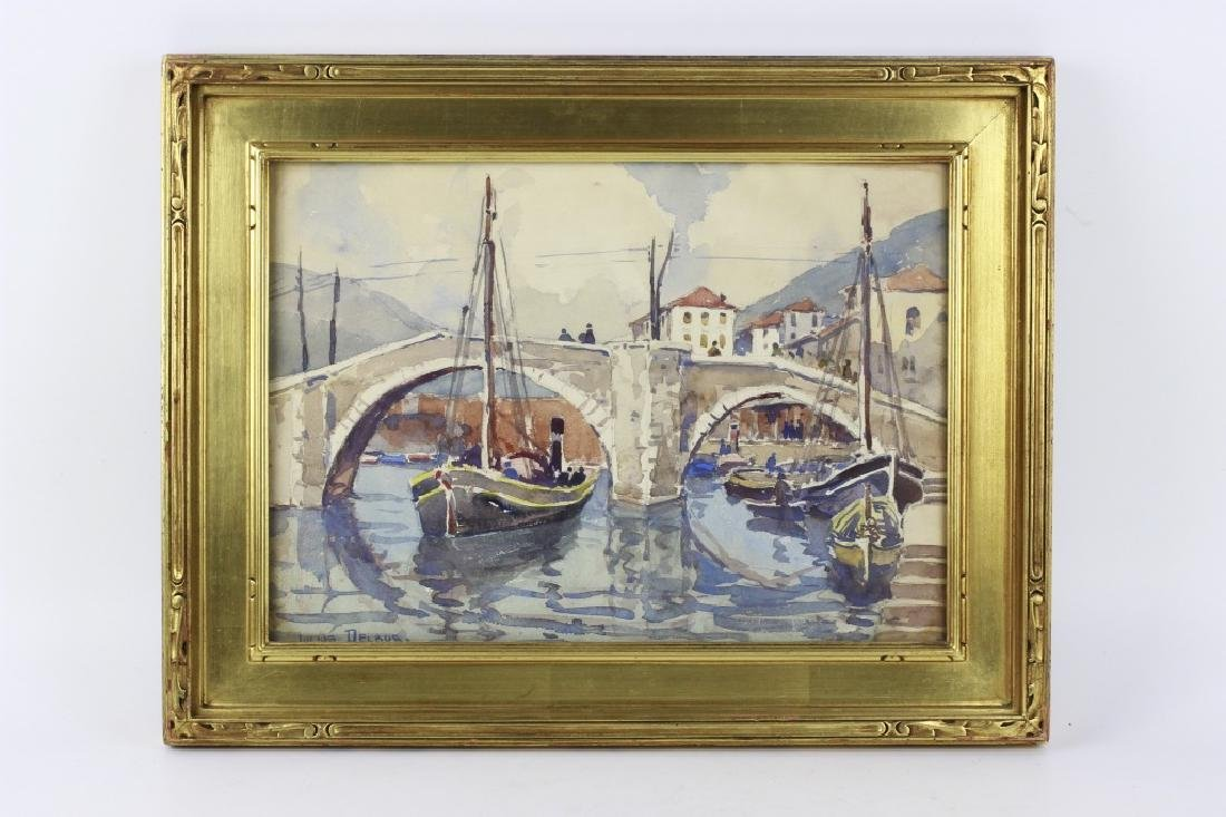 Julius Delbos Watercolor