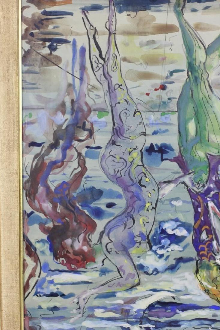 Leon Kelly,  American (1901-1982), Gouach & Ink - 9