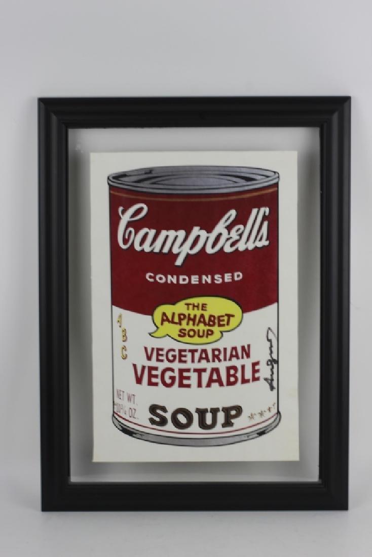 Campbell Soup Silkscreen Print, Signed Andy Warhol - 2